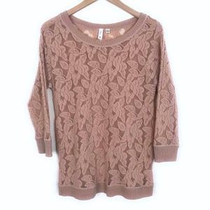 Anthropologie Tops - ELOISE Brushed Lace Pullover